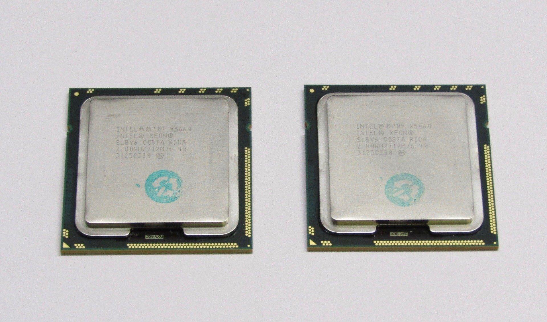 Lot of 10 Intel Xeon X5660 SLBV6 2.80GHz 12MB LGA1366 6-Core CPU Processors
