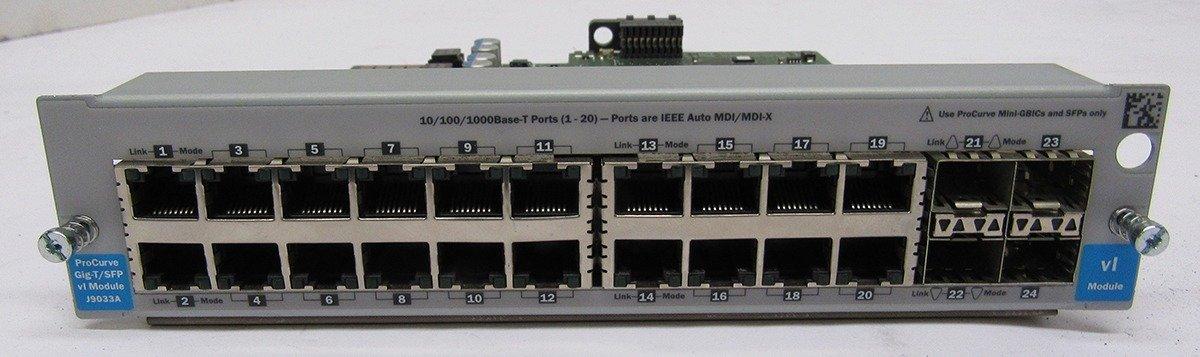 HP ProCurve 20 Port Gig-T /& 4 SFP Port Module J9033A